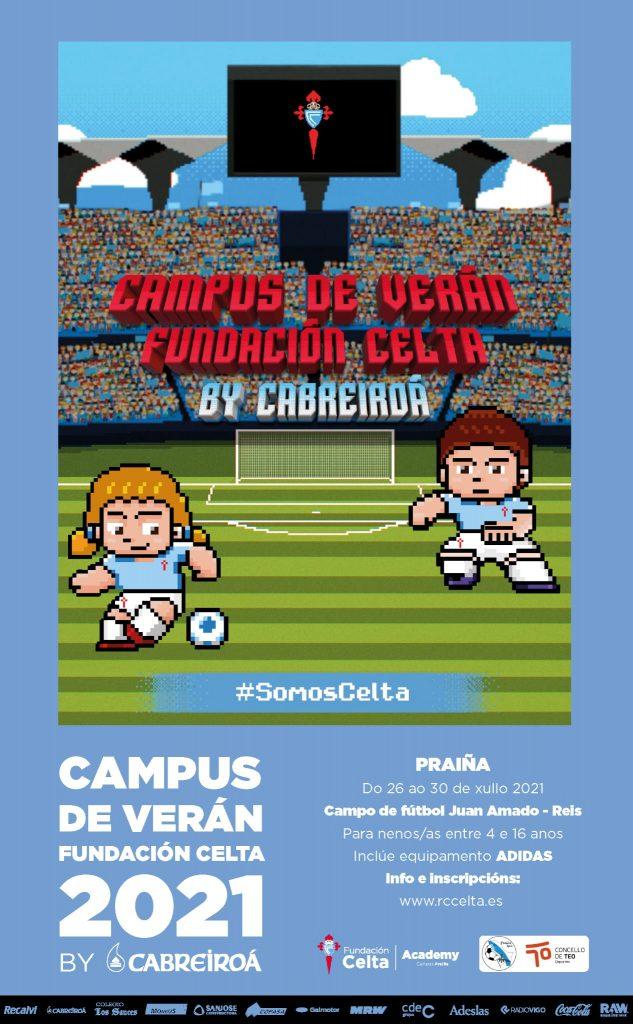 Cartel Campus Verán Praíña Sporting Club de Teo Fundación Celta